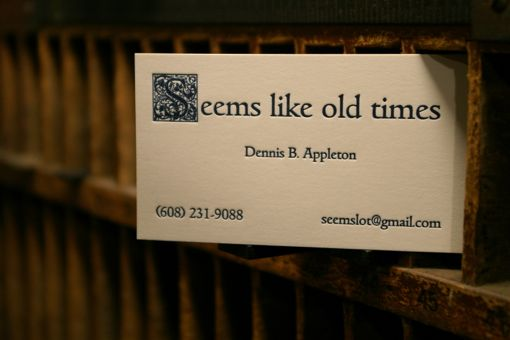 Letterpress printed business card designed and printed at Flying Rabbit Press.