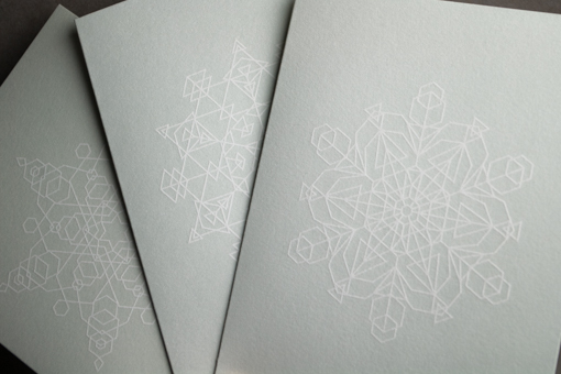 Glacial Blue Snowflakes